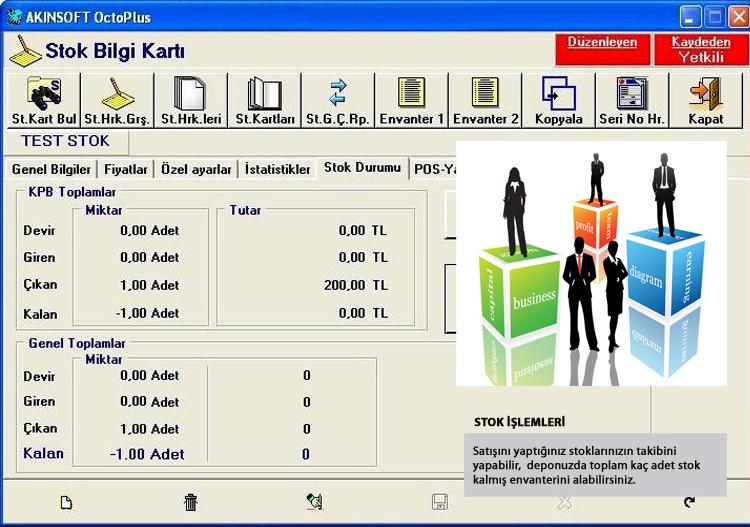 AKINSOFT OctoPlus Ekran Görünümü